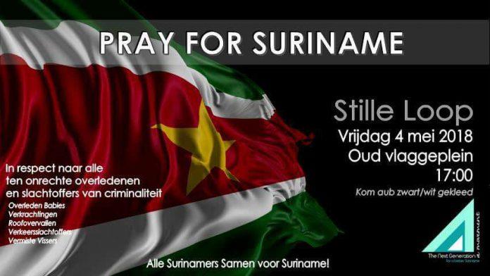 Vandaag Stille Loop voor vermiste vissers: Pray for Suriname