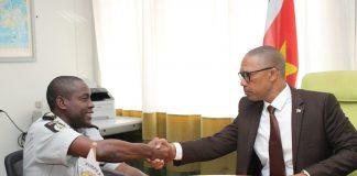 Presentatie nieuwe waarnemend korpschef van Politie Suriname