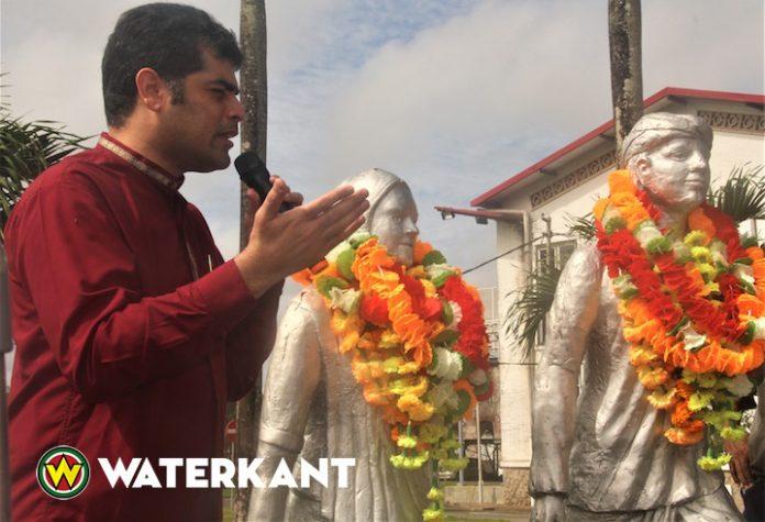 Foto's viering 145 jaar Hindoestaanse Immigratie in Suriname