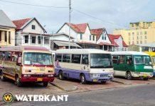 Landelijke staking van particuliere bussen in Suriname