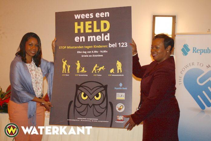 Campagne Kinder- en Jongerentelefoon ondersteund door Republic Bank Suriname