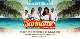 Suriname aan het strand op zondag 8 juli in Kijkduin