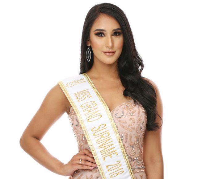 Safina Barsatie is Miss Grand Suriname 2018