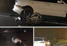 Vrouw in Suriname overreden na val door botsing tegen geparkeerde auto