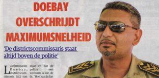 Districtscommissaris vindt dat hij altijd 'boven de politie in Suriname staat'