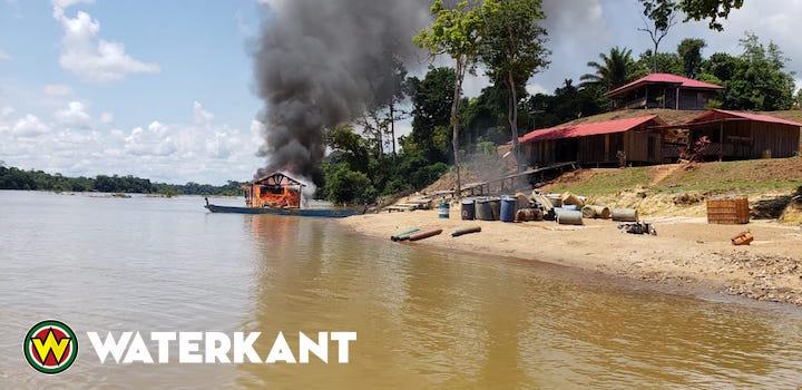 Foto's en film vernielingen door Franse politie in Suriname