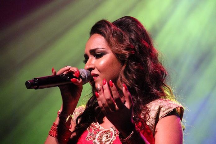 Nisha Madaran uit Suriname op 'Lights of Divali' in Den Haag