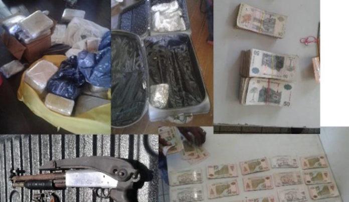 Grote hoeveelheid 'jami' en wapens in beslag genomen door politie Suriname
