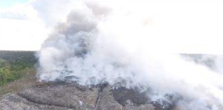 Kinderen ziek door brand op vuilstortplaats Ornamibo in Suriname