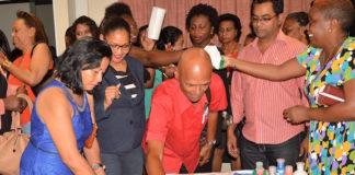 Viering van World Teachers Day in Suriname