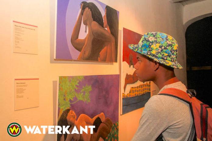 Solo kunstexpo van Arline Winkel in Fort Zeelandia Suriname