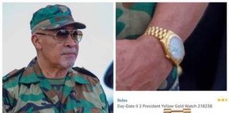 Horloge president Bouterse flink besproken op social media in Suriname