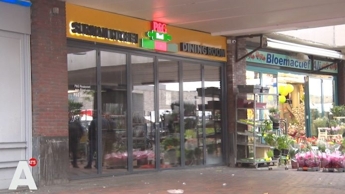 Weer handgranaat voor de deur van rotishop Bijlmerplein Amsterdam