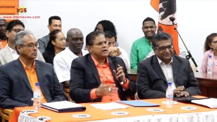 Santokhi ontwijkt de vraag of de VHP zal samenwerken met de NDP