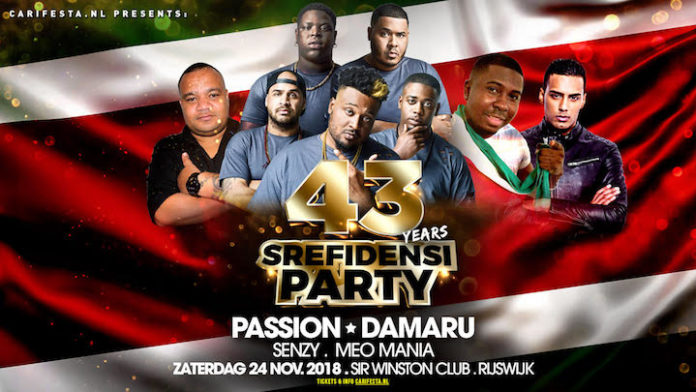 Srefidensi Party met PASSION en DAMARU uit Suriname