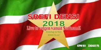 Srefidensi viering in Suriname ook live te volgen in Nederland