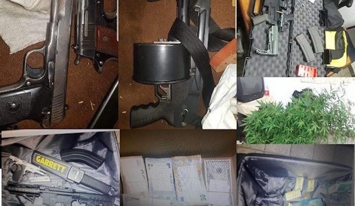 Wapens, drugs, goud en geld in beslag genomen na invallen politie Suriname