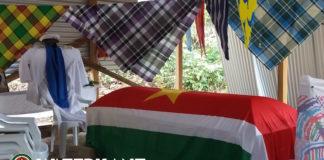 Begrafenis granman Mathias van de Kwinti's in Suriname