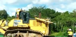 Filmpje 'vier doden bij ongeluk met Dozer te Klaaskreek' is niet uit Suriname