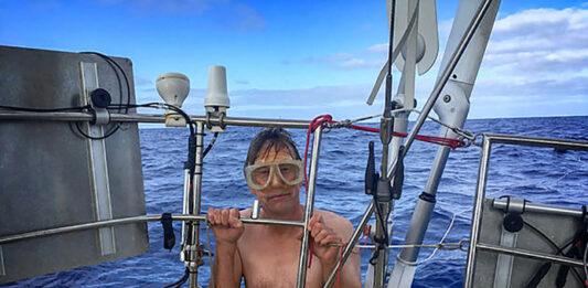 Pieter Jan Hagens bezig met oversteek van Atlantische Oceaan richting Suriname