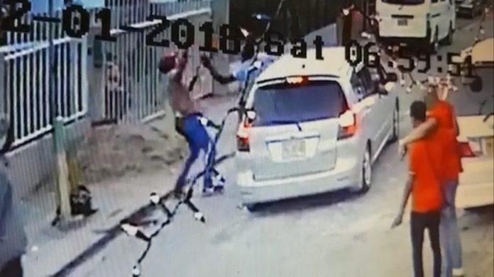 VIDEO: heftige beelden van steekpartij afgelopen zaterdag in Suriname