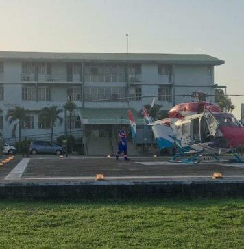 Zwaargewonde arbeider gered door inzet helicopter van Hi-Jet Helikopter Services Suriname