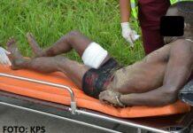 Politie Suriname publiceert foto van neergeschoten inbreker