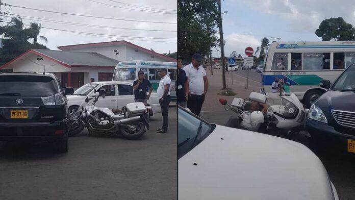 Motoragent in Suriname betrokken bij aanrijding