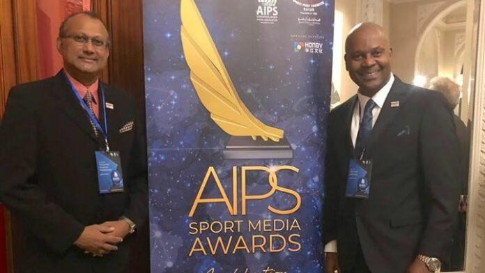 Delegatie Vereniging van Sportjournalisten in Suriname op AIPS in Zwitserland