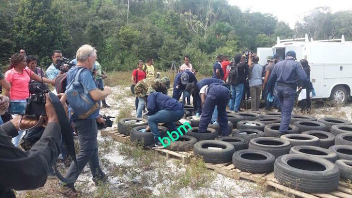 In Suriname onderschepte cocaïne vandaag te Kraka verbrand