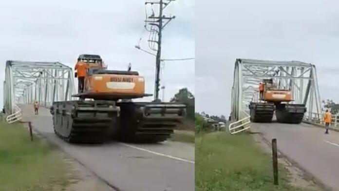 VIDEO: Overheid Suriname gaat eigenaar graafmachine opsporen na illegale actie
