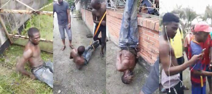 Vermeende dief ondersteboven opgehangen door buurtbewoners in Suriname