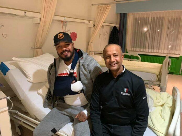 Tyrone Spong succesvol aan hand geopereerd na blessure in Suriname