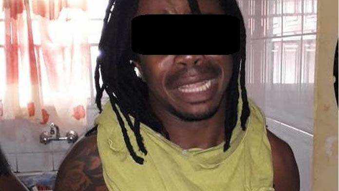 Gewelddadige crimineel huilend afgevoerd door politie in Suriname