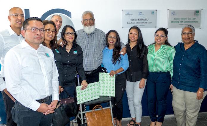 VSH en Hatramij doen donatie wens aan ziekenhuis in Suriname in vervulling komen