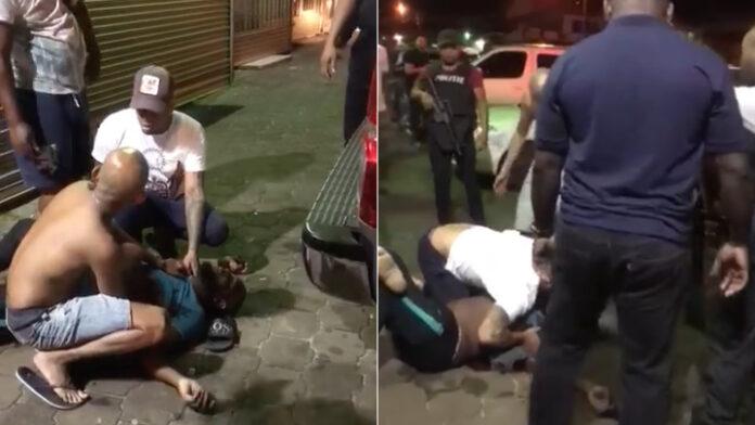 Man in borst geraakt nadat vriend wapen trekt en schiet op vriendengroep