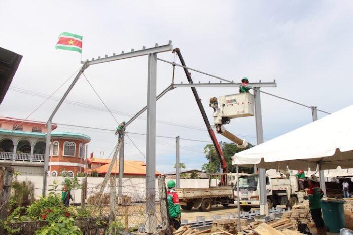 Nieuwe werkruimte voor afdeling Straatnaamborden en Huizennummering in Suriname