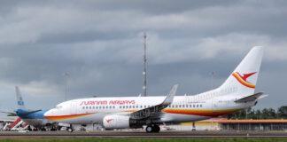 SLM maakt eerste lijnvlucht met 'nieuwe' Boeing 737-752 vanuit Suriname