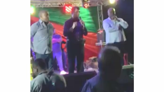 Vice-president Suriname uitgejouwd door groep; noemt hen 'zuiplappen van de tegenpartij'