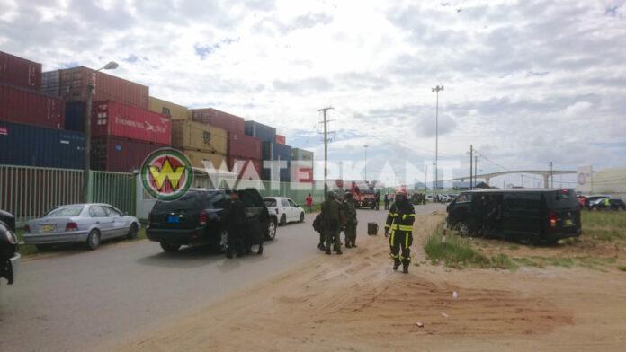 Bomb Squad, Brandweer, RBTP en DNV rukken uit in Suriname