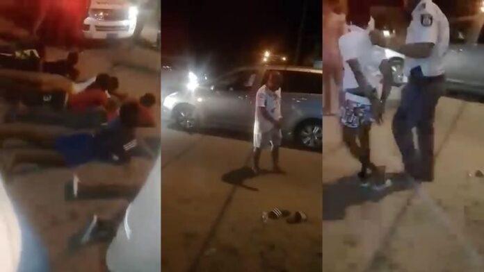 VIDEO: knaapjes beroven man en moeten plat op de grond van politie Suriname