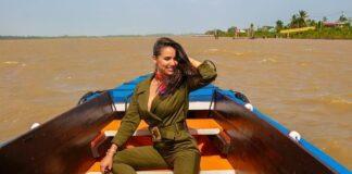 Miss Panamá 2011 op bezoek in Suriname voor Copa Airlines