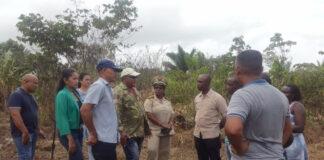 LVV Suriname bezoekt Ricanau Mofo voor opzet Farmers Field School