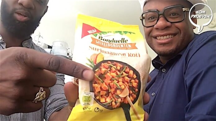 Howard proeft Surinaamse diepvries roti wereldgroenten van Bonduelle
