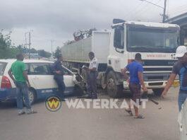 DAF truck en twee personenauto's betrokken bij aanrijding in Suriname