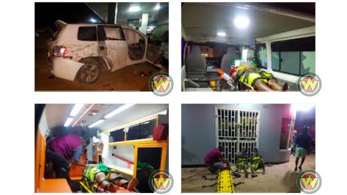 Gewonden nadat auto over de kop sloeg in Suriname