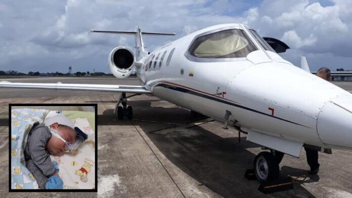 Baby uit Suriname voor medische behandeling met speciaal vliegtuig naar Columbia