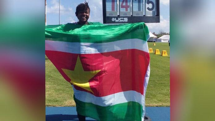 16-jarige Alicia Grootfaam wint goud voor Suriname op Carifta Games