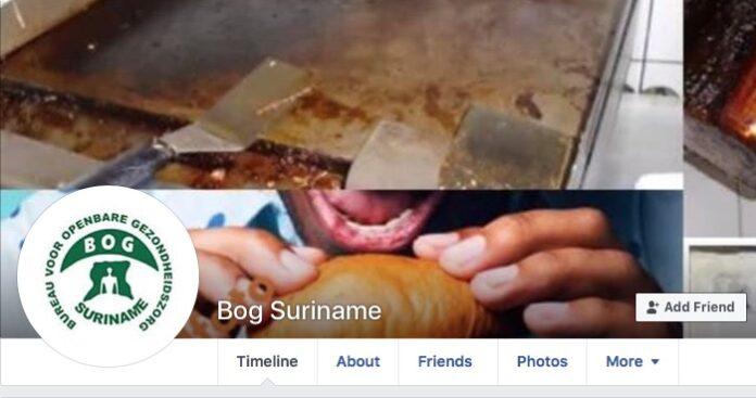Overheid Suriname waarschuwt voor nep BOG Facebook account