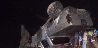 Gewonden bij aanrijding tussen pick-up en personenauto op Afobakaweg in Suriname
